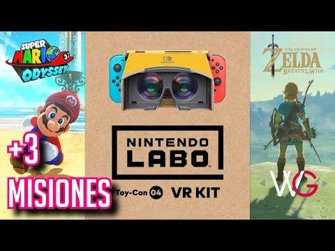 Nintendo Switch: VR para Mario y Zelda BotW! (Labo)