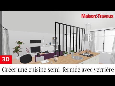 Ma Maison En 3D : Créer Une Cuisine Semi Fermée Avec Une Verrière   YouTube