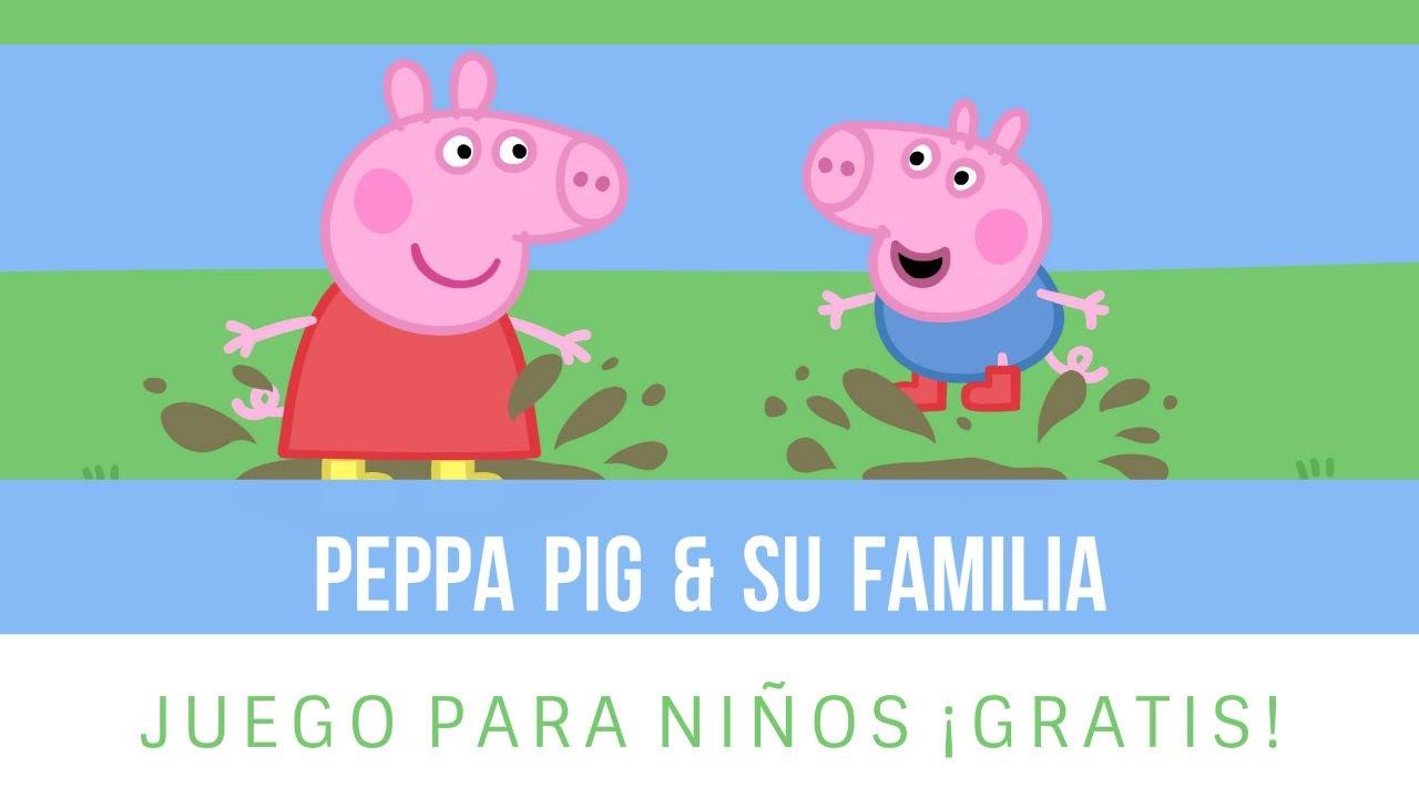 Peppa Pig y su Familia   Juego de Colorear Online Gratis para
