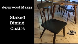 Staked Dining Chairs Made Using Hybrid Woodworking Techniques