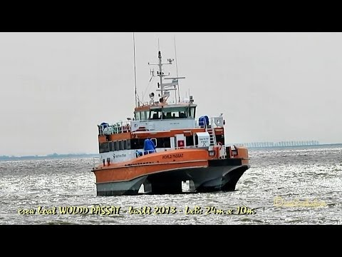 trimaran WORLD PASSAT OWJS2 IMO 9642100 Emden Germany offshore crew boat