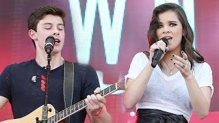 "Shawn Mendes Hooks Up With Hailee Steinfeld For ""Stitches"" At iHeartRadio Music Fest"