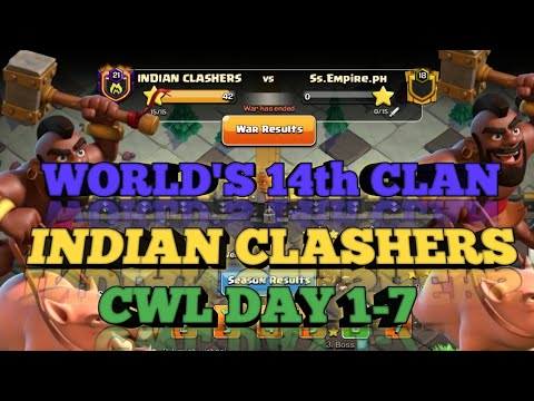 INDIAN CLASHERS | WORLD'S 14th CLAN | AMAZING | TH12 3 STARS | CLASH OF CLANS