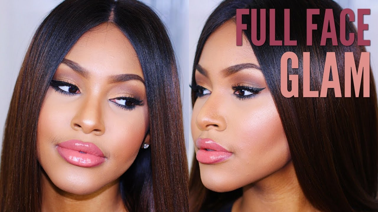 Full face makeup routine tutorial for black women youtube full face makeup routine tutorial for black women baditri Images