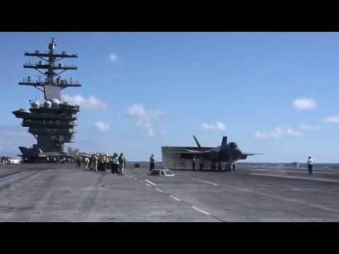 F-35C Lightning II conducts flight operations aboard USS Dwight D. Eisenhower