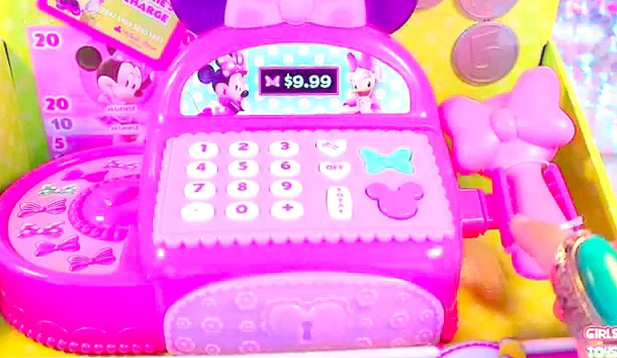 girls 39 toys disney junior minnie mouse bowtique cash register shopping games for girls toys. Black Bedroom Furniture Sets. Home Design Ideas