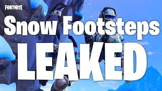 Fortnite Snow Footstep Sound Effect Leaked