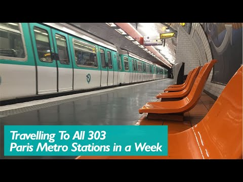 Went to all 303 Paris Metro Stations