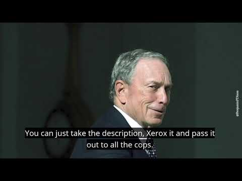 Bloomberg: Put All The Cops In Minority Neighborhoods and Throw Them Against the Wall