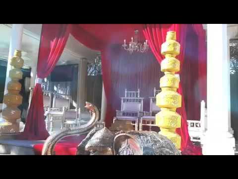 Red Hindu Wedding Mandap by Florista Decor