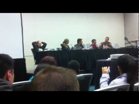 Veronica Taylor, Brian Dobson, Sam Vincent and Trevor Devall Panel