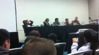 Veronica Taylor, Brian Dobson, Sam Vincent and Trevor Devall Panel