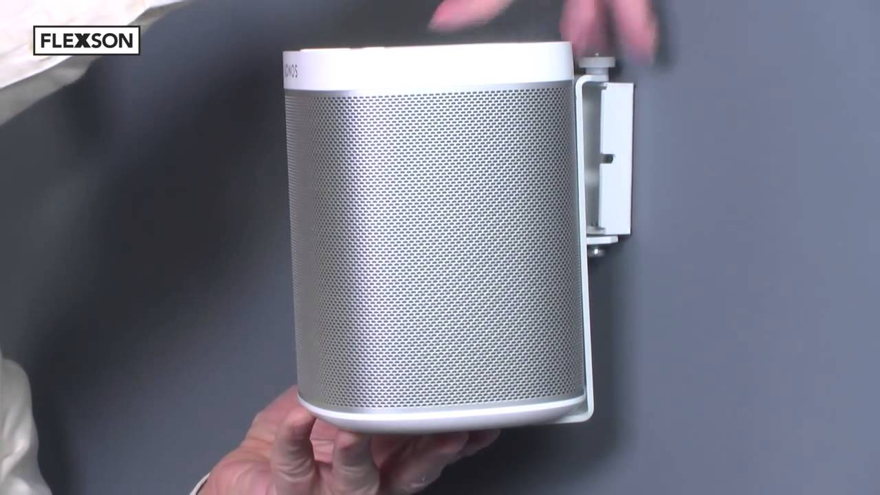 wandhalter f r sonos play 1 flexson thomas electronic. Black Bedroom Furniture Sets. Home Design Ideas