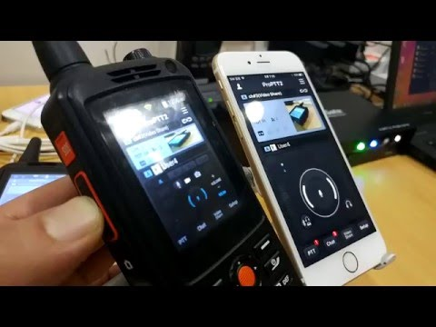 Video Push-To-Talk Using F22 PTT rugged device with ProPTT2