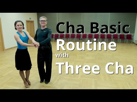 Basic Cha Cha Routine with 3 Cha and Open Hip Twist | Latin