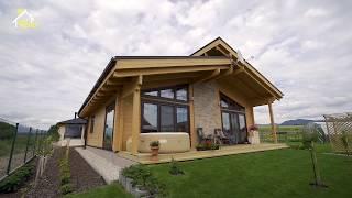Jednopodlažný zrubový drevený dom SABRINA