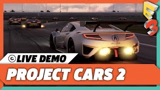 Project Cars 2 is a Scaled Down Professional Driving Trainer | E3 2017 GameSpot Show