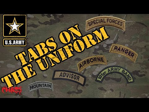The Different Tabs On The Army Uniform