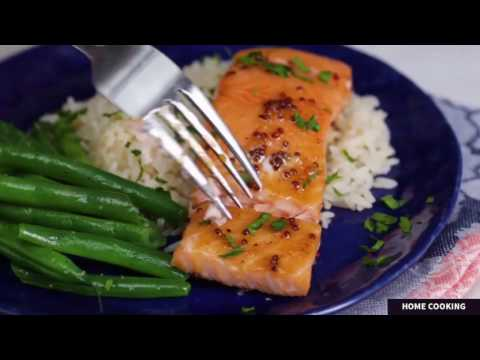 How To Make Maple Mustard Salmon | Maple Syrup Salmon Mustard | Mustard Glazed Salmon Baked