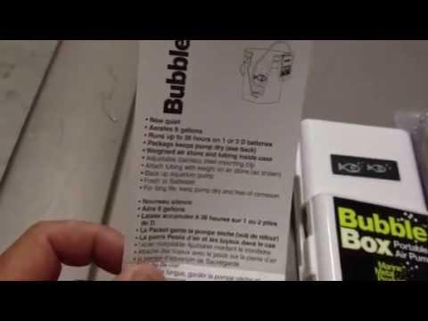 Bubble Box Fish Aerator Unboxing