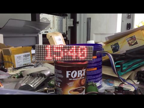 Часы на матрице