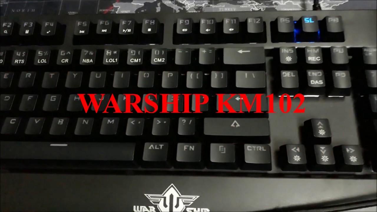 So Sánh Bàn Phím Cơ Warship KM102 Và Bàn Phím Cơ Warship Km103
