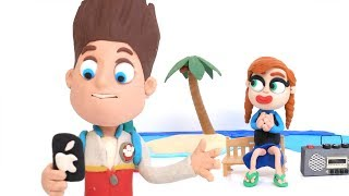 Ryder Iphone selfies 💕 Superhero Play Doh Stop motion cartoons for kids