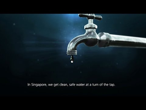 How tap water is produced in Singapore?