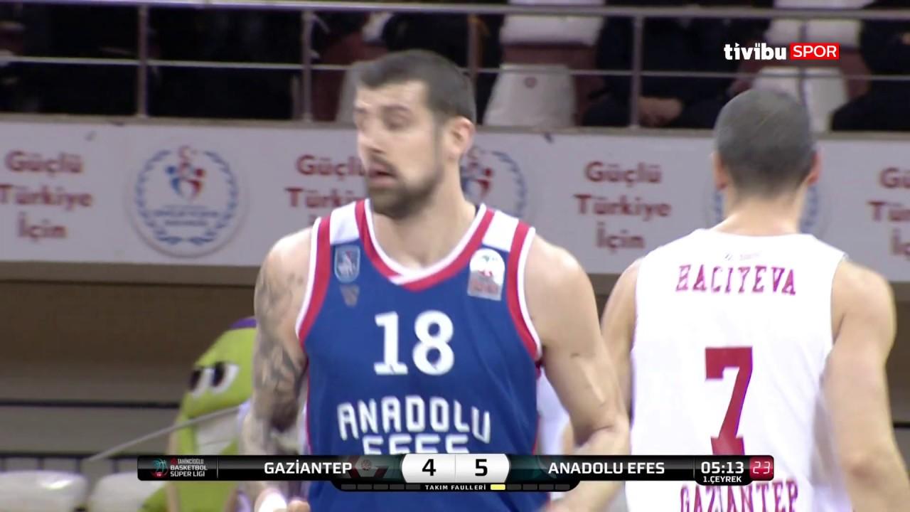 Maç Özeti:Gaziantep Basketbol - Anadolu Efes