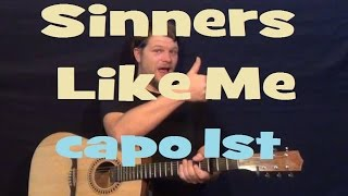 Sinners Like Me (Eric Church) Guitar Lesson Easy Strum How to Play Tutorial