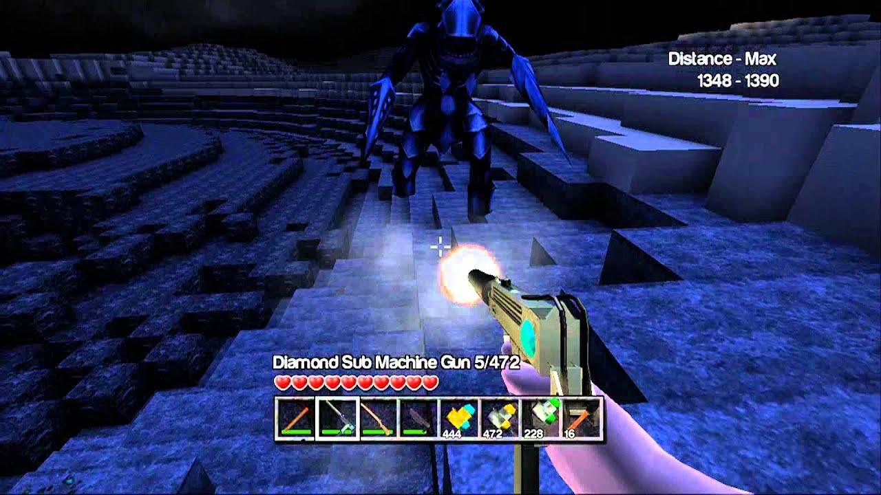 MINECRAFT WITH GUNS! Xbox 360 ALIEN SHOOTOUT - YouTube