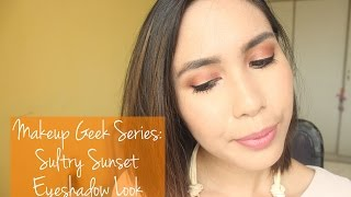 Makeup Geek Tutorial #1 (Collab with Dygans90!) | Sultry Sunset | Rustyshoes92