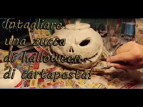 Zucca Halloween Cartapesta.Zucca Di Halloween Di Cartapesta