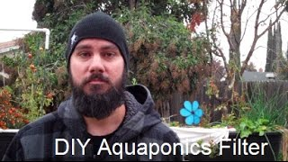 Backyard Aquaponics - DIY Grow Bed 5 Gallon Filter in Action