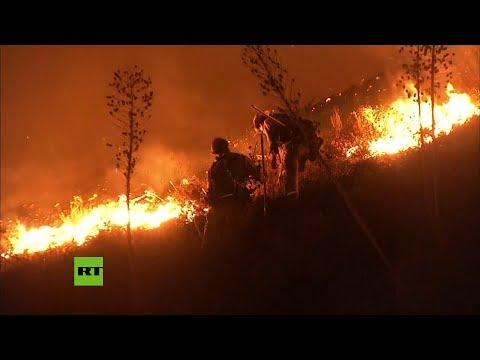 El Gallo Por La Mañana - Fuertes incendios forestales en el sur de California, video!