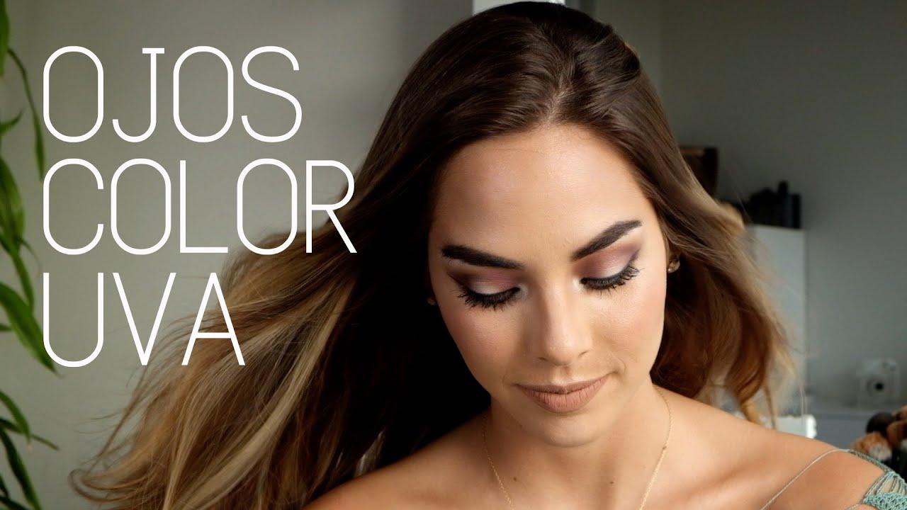 Maquillaje De Ojos Color Uva Tutorial Youtube