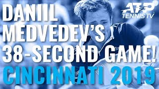 Daniil Medvedev Serves Four Aces In A Row For A 38-Second Game! | Cincinnati 2019 Day 4
