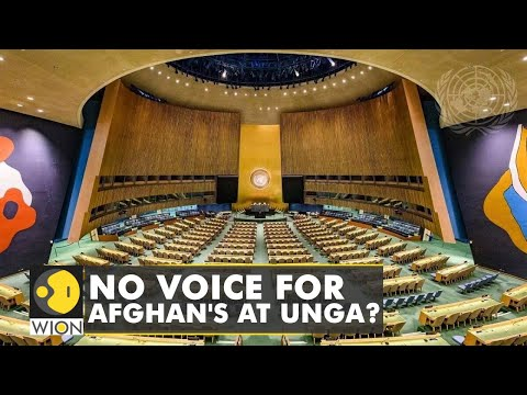 Controversy over Afghanistan's UNGA address  Latest World English News   WION Update
