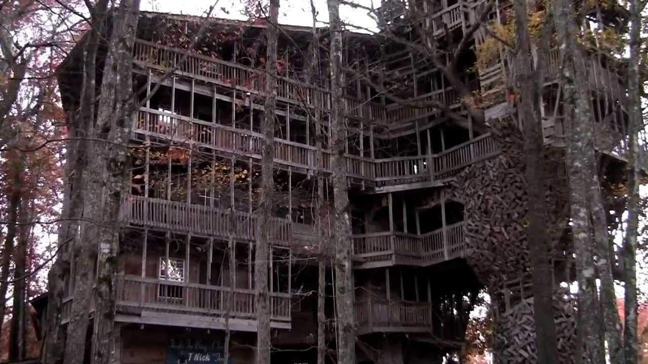 Biggest Treehouse In The World 2013 worlds largest tree house crossville, tn as seen on abc wkrn-tv