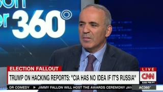 Garry Kasparov with Anderson Cooper @AC360