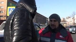 Водитель оказался заложником ситуации в аварии на улице Калинина