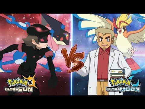 Pokemon Ultra Sun and Ultra Moon: Dark Hero Vs Professor Oak (Ultra Greninja)