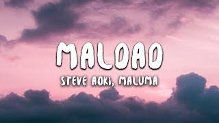Steve Aoki, Maluma - Maldad (Letra / Lyrics)