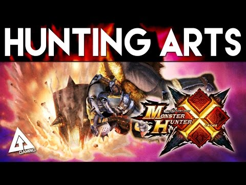 Monster Hunter X Hunting Arts for All 14 Weapons