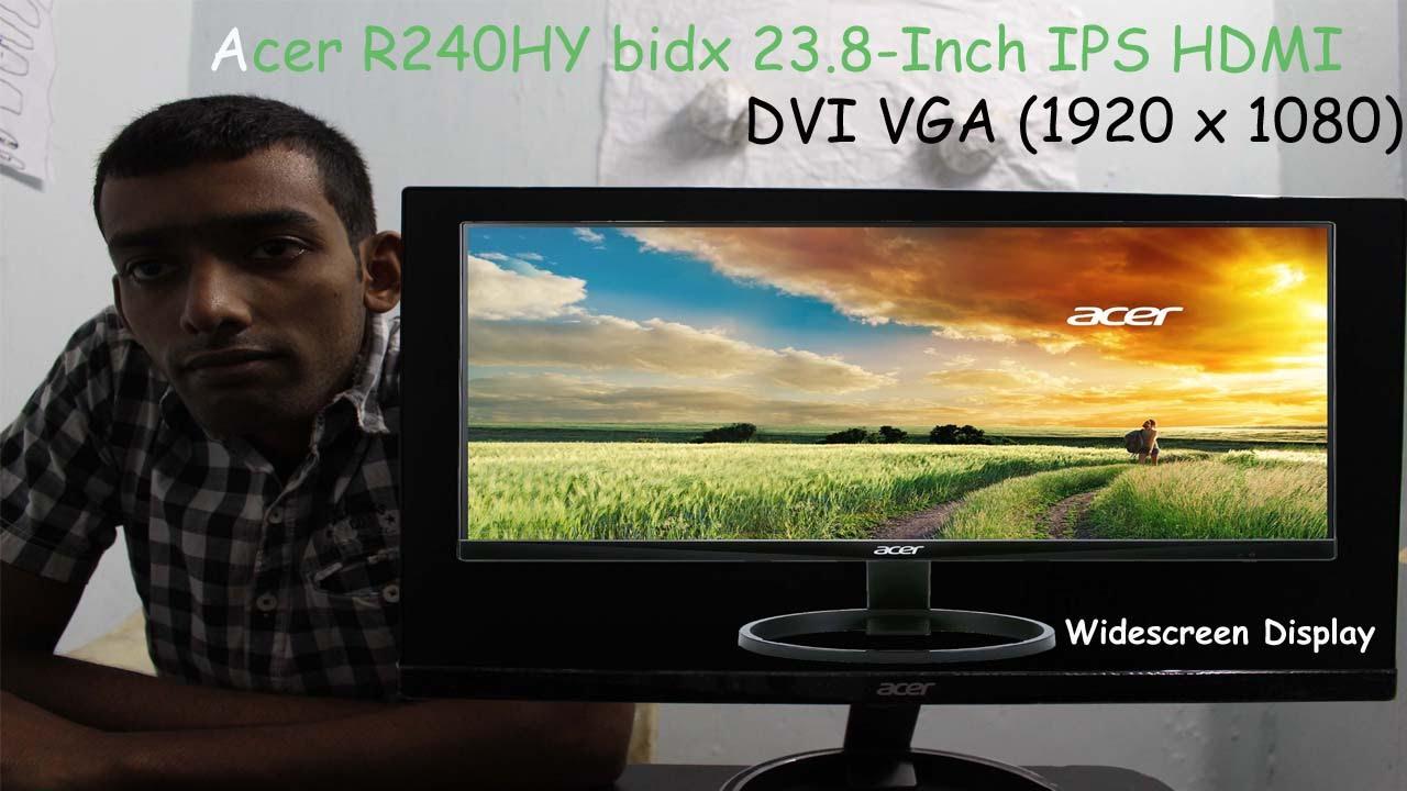 1920 x 1080 Widescreen Display Acer R240HY bidx 23.8-Inch IPS HDMI DVI VGA