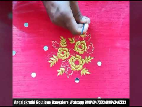 Hand Embroidery Designs For Kids Frock Mirror Work By Angalakruthi