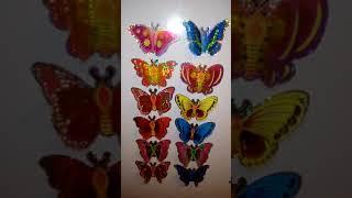 3D бабочки. Объемные наклейки. Обзор 3D наклеек
