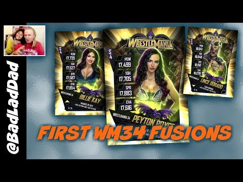 First WrestleMania 34 Fusion Cards : WWE SuperCard S4 Ep71
