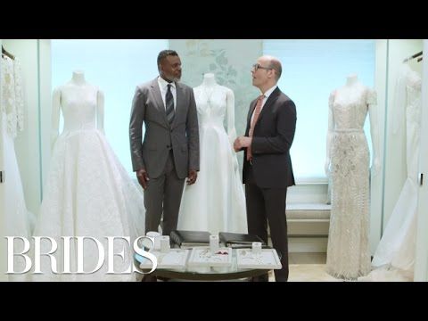 Mark Ingram and Sotheby's Pair Wedding Dresses and Jewelry | BRIDES
