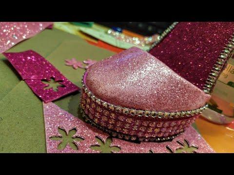 Королеве под стать!Туфелька-подставка для телефона//Сувенир из фоамирана.